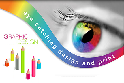 eye catching design and print